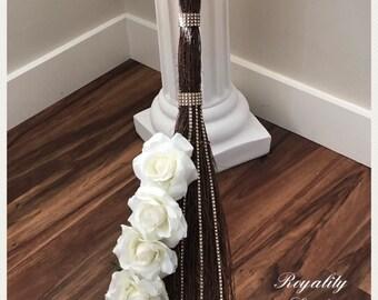 Elegant Rose Wedding Broom