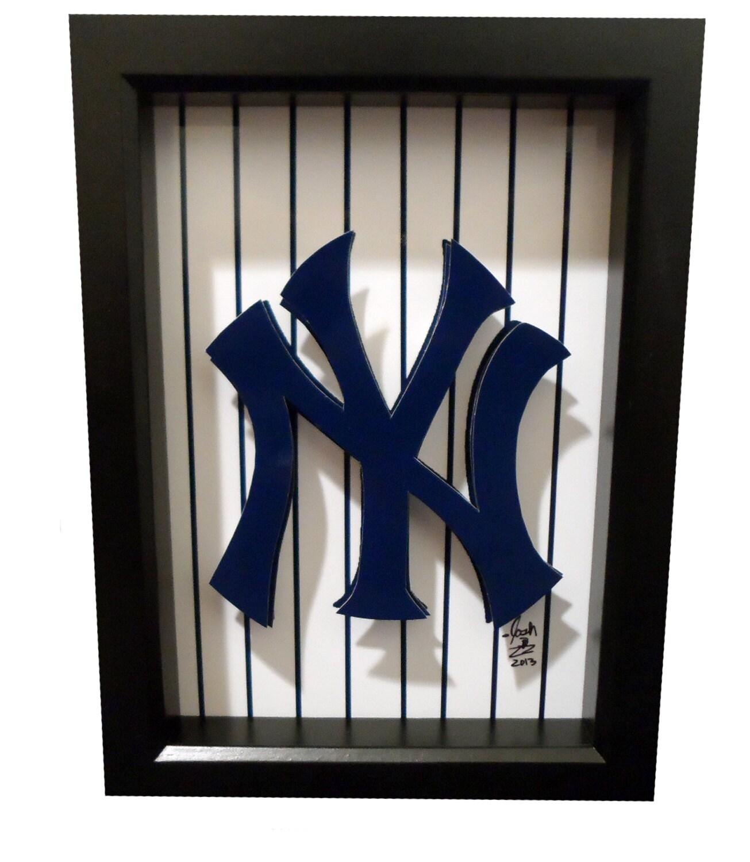 New york yankees logo 3d pop art ny baseball print artwork description this new york yankees logo biocorpaavc