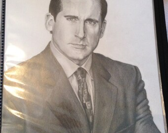 Original Drawing of Steve Carell as Michael Scott in The Office (NOT a print)