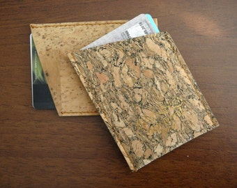 eco-friendly cork slim wallet card case