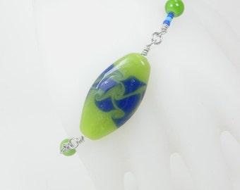 Wire Wrapped Bracelet, Beaded Bracelet, Colorful Jewelry, Birthday Gift, Handmade Jewelry