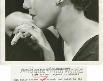 Rose Bampton beautiful opera singer antique art photo