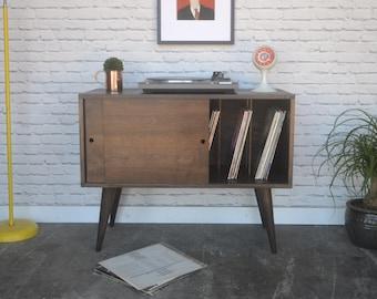 Eiden Record Storage Cabinet - Mid Century Modern Inspired