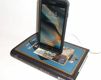 Jane Austen Mansfield Park Book IPhone 5/6/7 Docking Station Dock Charger