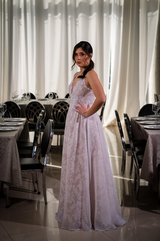 Boho Brautkleid schlichtes Brautkleid Hochzeitskleid Spitze