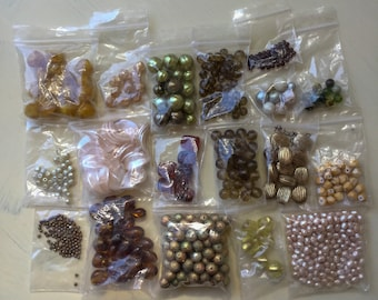 Destash Mixed Bead Lot ~ All Different Shapes Sizes and Colors