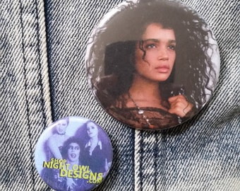 Lisa Bonet handmade 2-1/4 inch pinback button pin pins buttons pingame badge badges