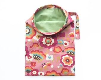REVERSIBLE Car Trash Bag - Pink Flowers - Women - Car Litter Bag - Auto Accessories - Garbage Bag - Car Organizer