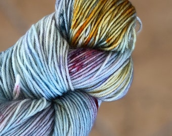Variegated Hand Dyed Yarn-One of a Kind-Fuzzy Toad-100 gr-55 superwash/20 Kid Mohair/25 Nylon-438 yards-Toad Hollow Yarn-Indie Dyed Yarns