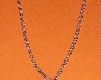 Necklace silver plated ring beads lilac magic
