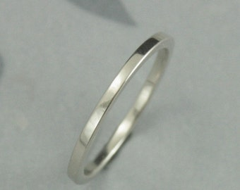 Super Stacking Rings--1.5mm Square Spacer Band--Your choice of ONE in 14K Yellow, White, or Rose Gold--Custom made in YOUR size