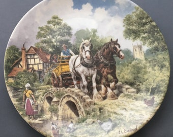 """Wedgwood Life on The Farm Off To Work 8"""" Collectors Plate"""