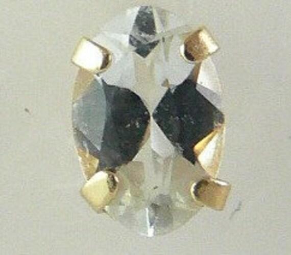Aquamarine 0.74ct Earring 14k Yellow Gold