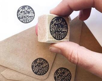 Custom wedding stamp, custom name stamp, save the date stamp, wedding invite, initials stamp, wedding gift, personalized stamp, engagement