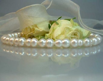 """Cream White Freshwater pearl strand twin after """"Biwaart"""""""