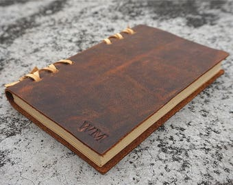 Mens Personalized Leather journal n gift for Brother Gift For Father Gift For Men Gift For Boyfriend Gift For Husband Gift travel journa