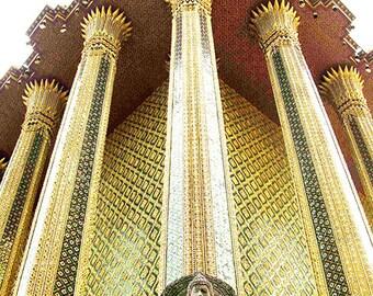 Thailand Photography - Golden Temple Buddha - Bangkok - Fine Art Photography Print - Asian, Gold