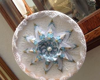 Teabag Folded Victorian Style Origami Star Decor