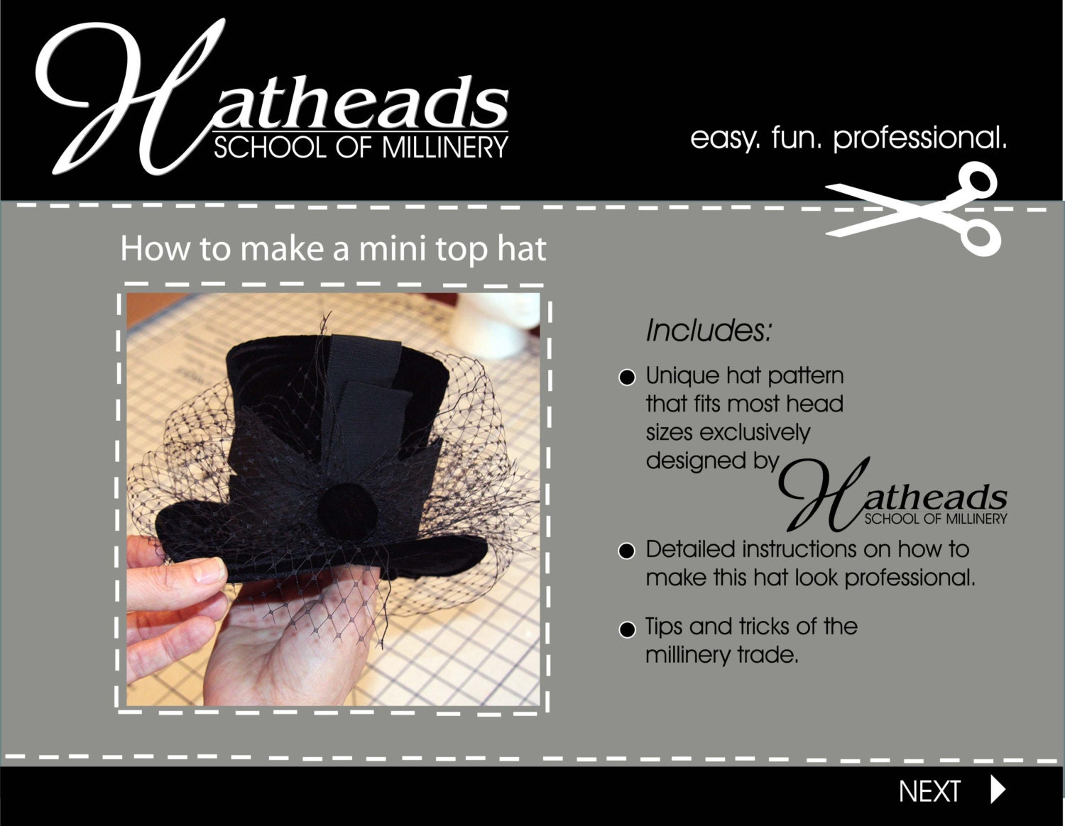 How to make a mini top hat pdf E-book pattern from ...