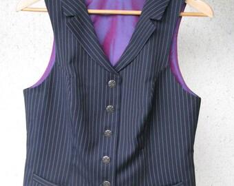Superfine Pinstripe Vest--Custom Made