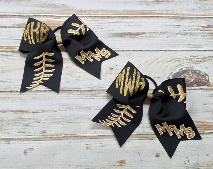 Cheer Bows, Hair Bows, Monogrammed Cheer Bows, Monogram Cheer bow, Girls Hair Bows, Custom Hair Bows, Softball Hair Bows, Softball Bows
