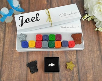 Ring security gift - crayons - will you be my ring security - gift for ring security - will you be our ring security - kids wedding favors