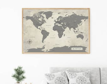World travel map etsy gumiabroncs Gallery