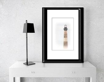 Morris Island Lighthouse-Nautical Wall Art-Coastal Photography-Lighthouse Wall Print-Fine Art Photograph-South Carolina Coast-Vertical Print