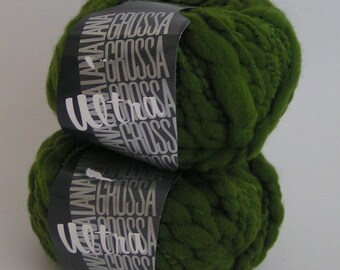 YARN ULTRA Dark Green Lana Grossa Color  Lot  Approx 50 grams approx 35 meters wool polyamide CLEARANCE Sale