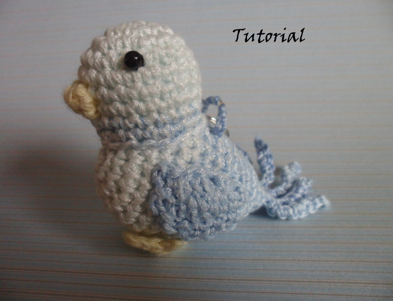 Amigurumi Bird Tutorial : Crochet pattern amigurumi bird keychain amigurumi keychain