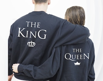 king queen hoodie, king and queen, couples sweatshirt, couple shirts, king and queen hoodie, couple hoodies, king and queen, king queen
