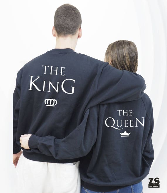The King & His Queen Sweatshirt, Couple Sweatshirts, Couples shirt, Couples hoodie set unique gifts, Couple sweatshirt, Couples shirts