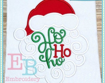 Ho Ho Ho Santa Applique - This design is to be used on an embroidery machine. Instant Download