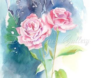 "Raindrops on Roses Fine Art Print 12x8"" or 14x11"", Engagement Gift, Wedding Gift, Birthday Gift"