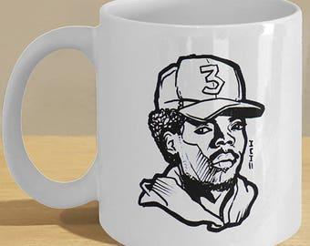 The Chance Rapper Mug - Drawn Cool hip hop Cup - Rap art printed decor!