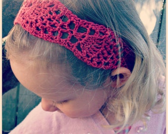 Download Now - CROCHET PATTERN Pineapple Lace Headband - Baby to Adult - Pattern PDF