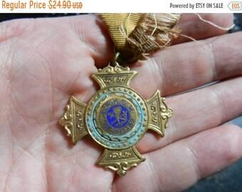 Spring Sale Vintage 1889 D.R.K.S.V. German Club Appleton Wisconsin Medal Cross