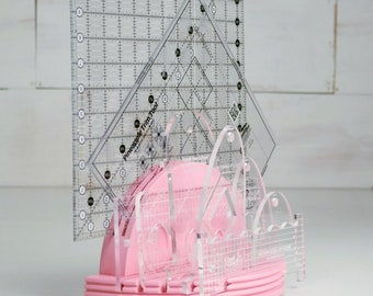 PRE-ORDER Longarm Ruler Roundups Pink