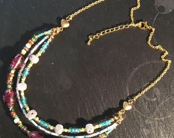MULTISTRAND Choker necklace