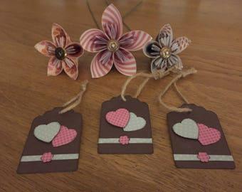 Beautifully handmade heart gift tags