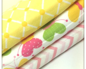 Butterflies Baby burp Cloth Set- Baby- Nursery- Baby gift- Baby Shower- Burp cloth