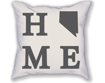 Nevada Home State Pillow