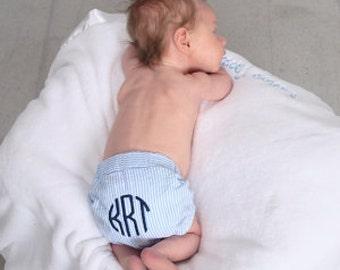 Diaper Covers for Him, Seersucker, Swim Pants Covers, FREE MONOGRAM, diaper pants, boys, toddler, swim suit, baby boys