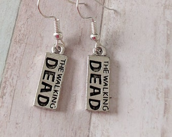 Fandom earrings, zombie earrings, zombie jewellery, fandom jewelry, gifts for her, horror earrings, horror jewelry, gothic earrings
