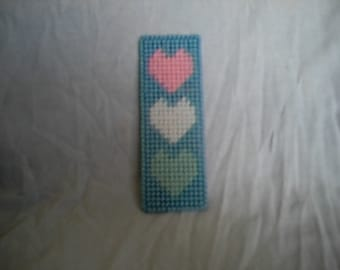 Heart Bookmark PDF Plastic Canvas Pattern
