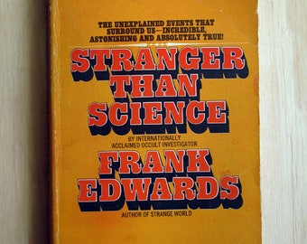 Vintage Occult Book Stranger Than Science, Frank Edwards, Bantam Books, 1973