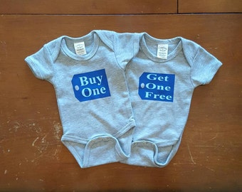 Buy One Get One Free Onesies, Twin Baby Onesies, Twin Onesies, Baby Onesies