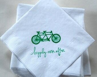 Tandem Bicycle Napkins / Set of 200/Bar Napkins / Perfect for your wedding