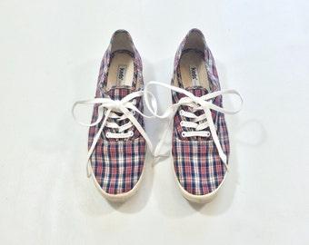 KEDS Plaid Ladies Lace up Canvas Shoes