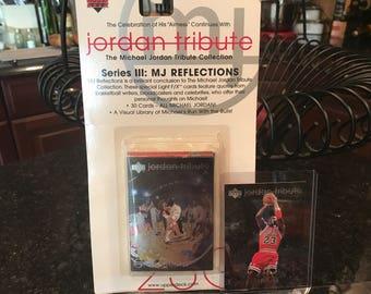 Factory Sealed, Michael Jordan Tribute, Upper Deck, 30 cards, MJ Reflections, 1998